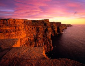 Cliff Coast Cliffs Of Moher Sunset