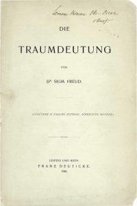 Traumdeutung Sigmund Freud C Sigmund Freud Privatstiftung
